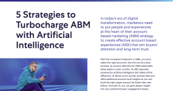 5 Strategies to Turbocharge ABM with AI Infographic Listing Tile