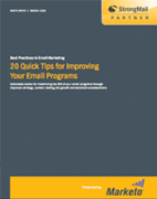20 quick tips for improving your email programs