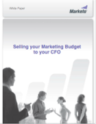 selling your marketing budget to your CFO