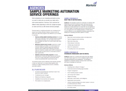 Sample Marketing Automation Service Offerings for Agencies