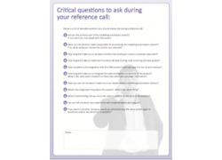 critical questions to ask during your reference call